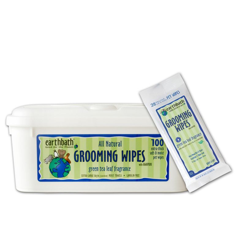 Earthbath Green Tea Pet Grooming Wipes 100ct
