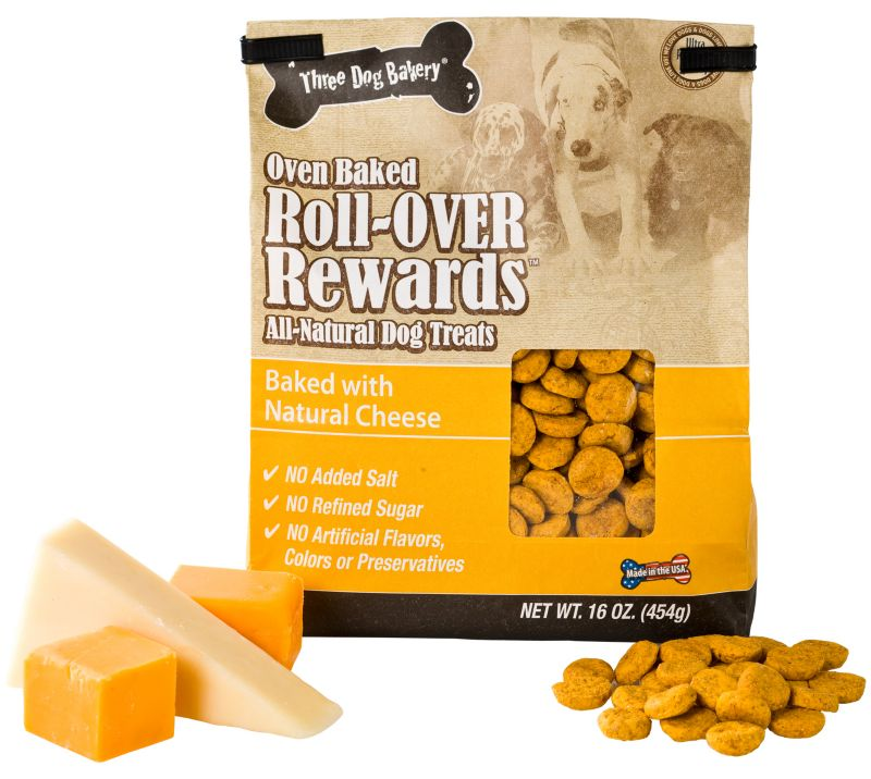 3 Dog Bakery Roll Over Rewards Dog Treat Cheese