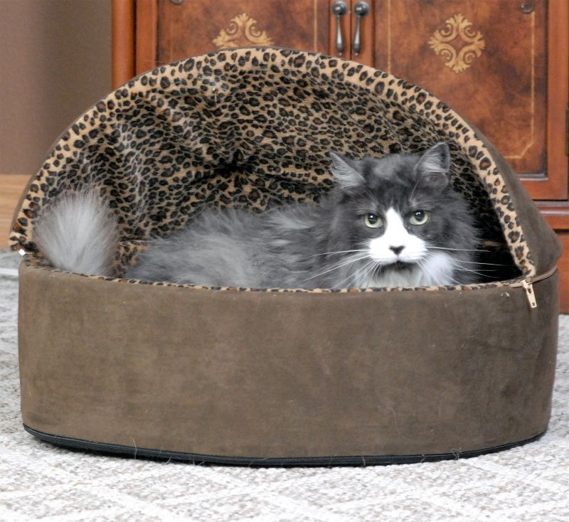 KH Mfg Deluxe Heated Cat Bed Small Tan