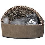 KH Mfg Deluxe Heated Mocha Cat Bed