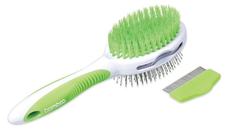 Bamboo Pin/Bristle Brush and Flea Comb Best Price