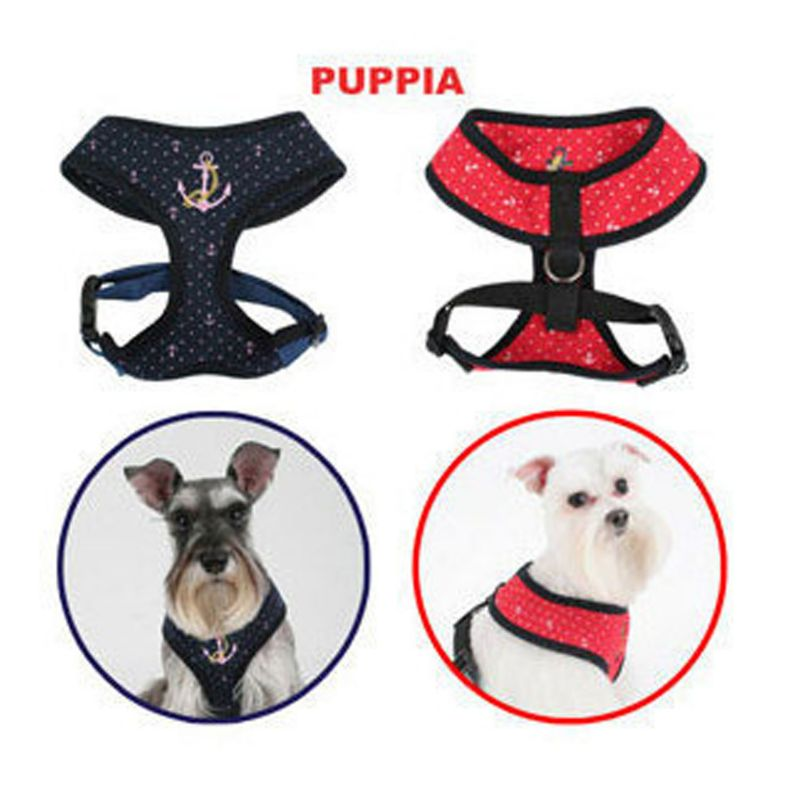 Puppia Marine Dog Harness Large Red
