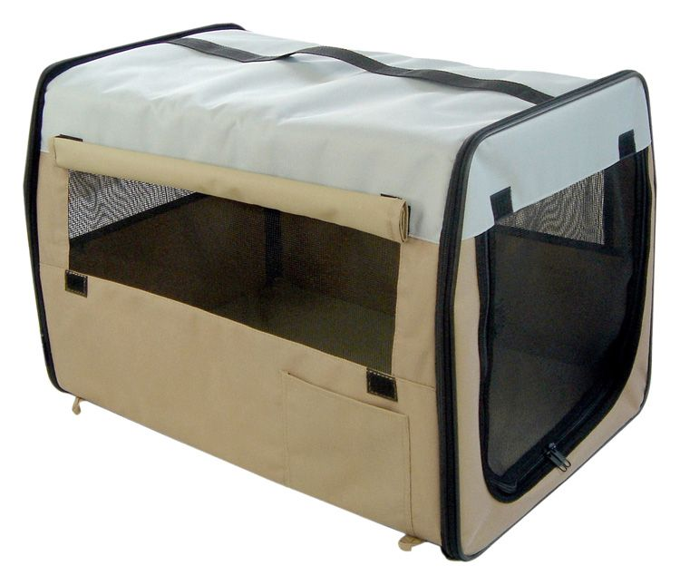 Easy Carry Soft Sided Dog Crate Medium Blue