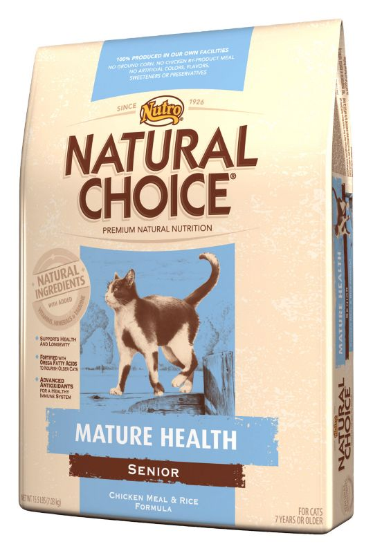 Nutro Natural Choice Senior Dry Cat Food 7lb