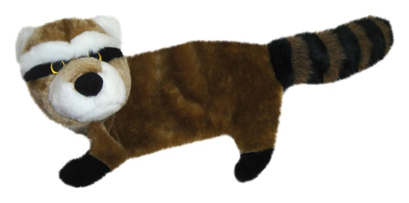Patchwork Pet Flat Body Dog Toy Racoon