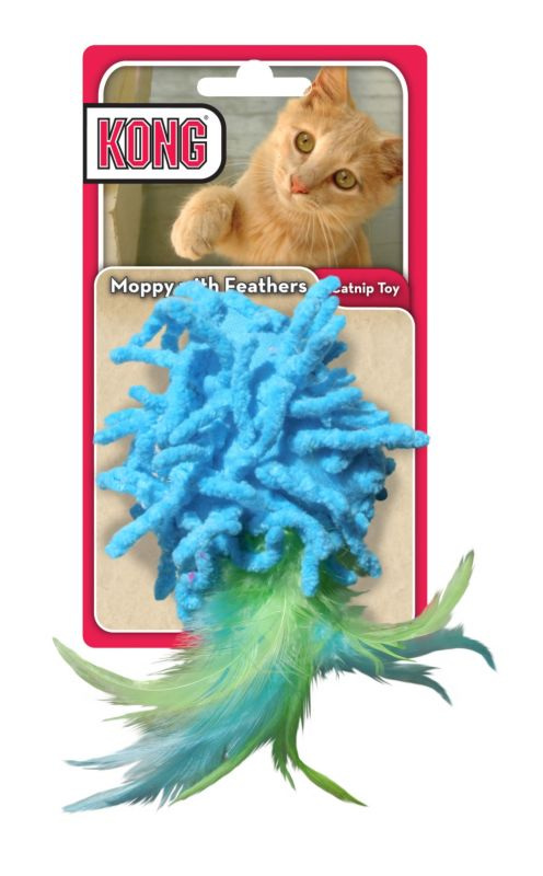 Kong Moppy Feathers Cat Toy
