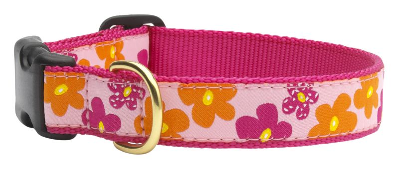 Up Country Flower Power Dog Collar MD