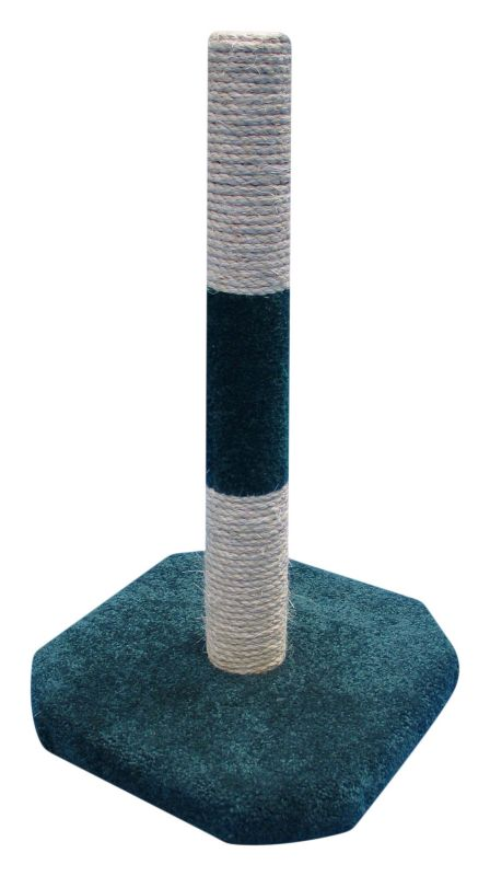 Carpet and Sisal Cat Scratching Post Grey