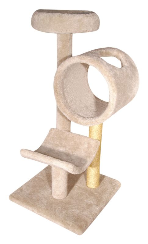 Three Tier Cat Tree with Tunnel Grey