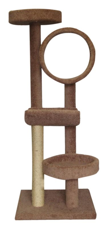 Four Tier Cat Tree with Tunnel Tan