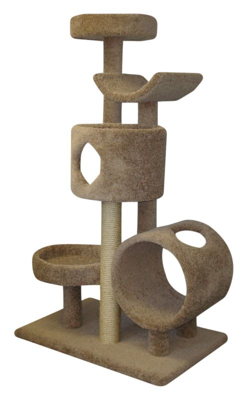 Five Tier Cat Tree with Tunnel and Tower Green