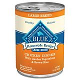 Blue Homestyle Recipe Lg Breed Can Dog Food Case