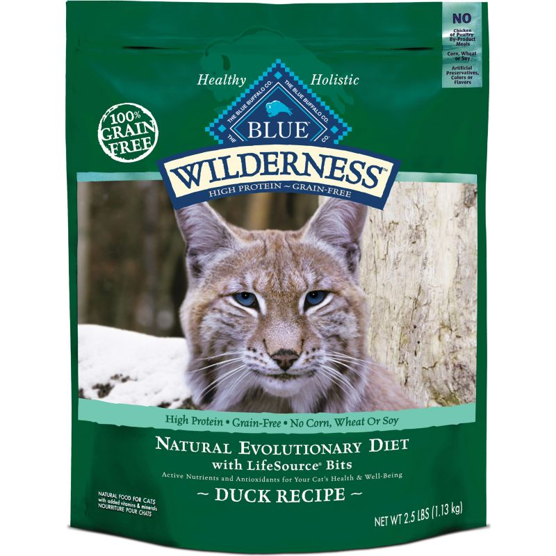 Blue Buffalo Wilderness Duck Dry Cat Food 5lb