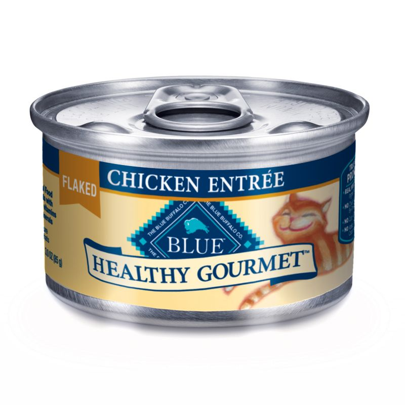 Blue Buffalo Gourmet Cat Food Case Flaked Chickn