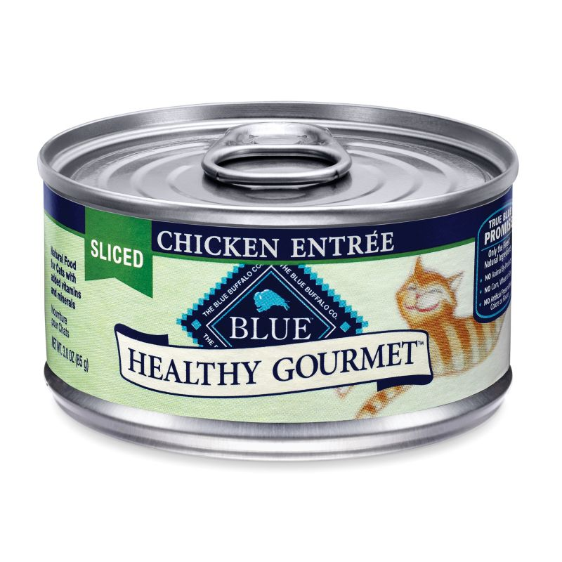 Blue Buffalo Gourmet Cat Food Case Sliced Chickn