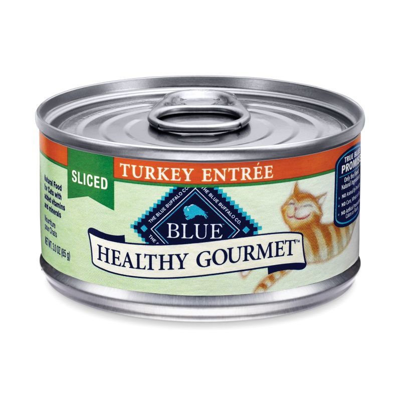 Blue Buffalo Gourmet Cat Food Case Sliced Turkey