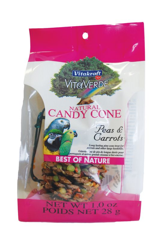 Vita Verde Candy Cone Bird Treat Peas and Carrot