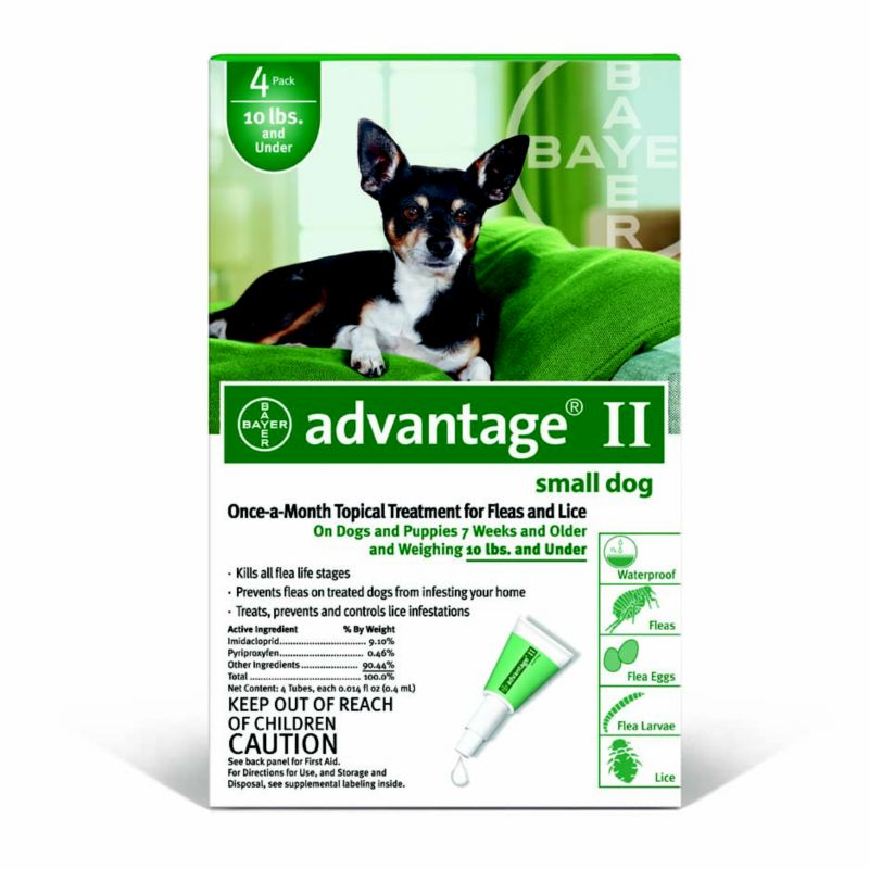 Advantage II for Dogs 4 Month Supply 1-10lb