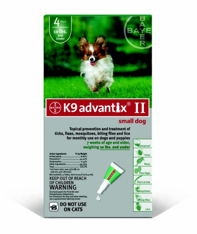 K9 Advantix II for Dogs 4 Month Supply 1-10lb