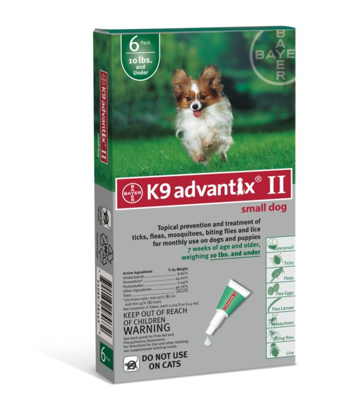 K9 Advantix II for Dogs 6 Month Supply 1-10lb