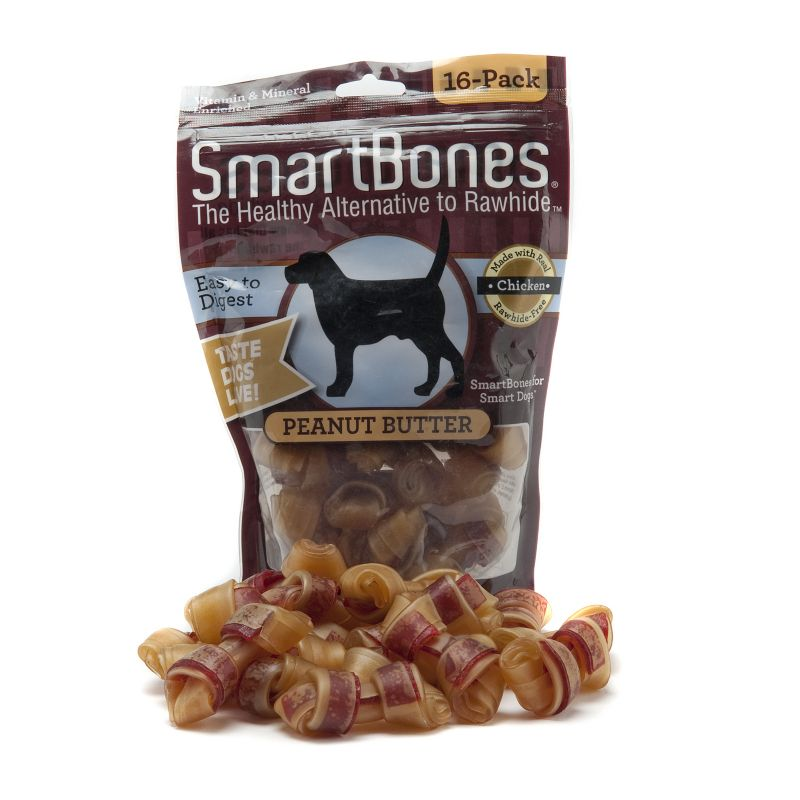 SmartBones Peanut Butter Dog Chew Mini Dog Treats Best Price