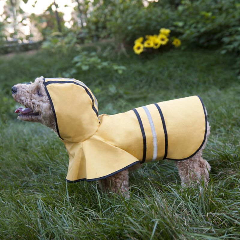 Fashion Pet Rainy Days Slicker Dog Coat Small