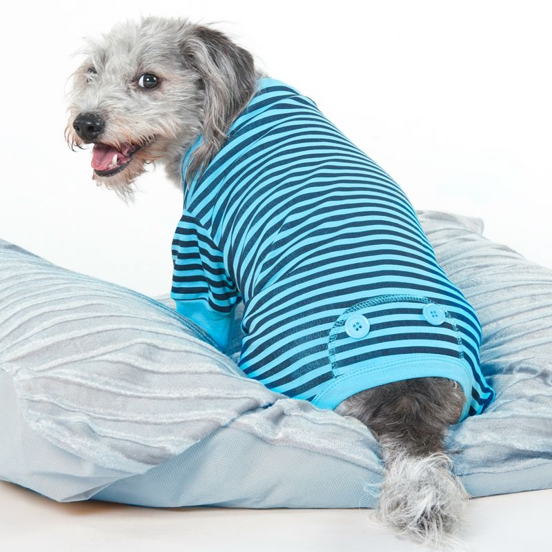 fashion pet blue stripe dog pajama xxsmall on lovemypets.com
