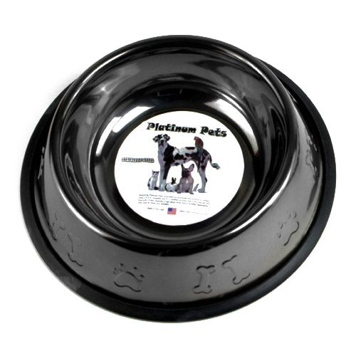 Embossed Non-Tip Stainless Dog Bowl 64oz Teal
