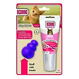Kitty KONG Cat Toy and Salmon Stuff N Paste Combo