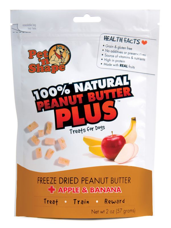 Freeze Dried Peanut Butter Dog Treat Apple/Banana