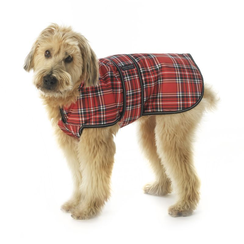 Kodiak Plaid Dog Coat Large Blue Plaid