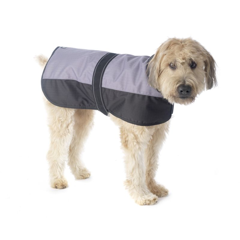 Outback Dog Coat Large Gray/Black