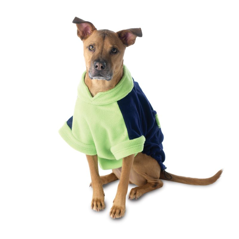 Attitash Fleece Dog Coat Small Navy/Lime Best Price
