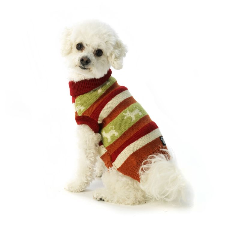 Fritzys Fair Isle Dog Sweater X-Small Orange Spice
