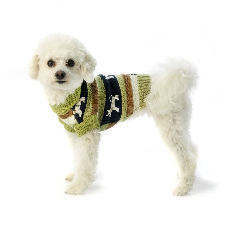 Fritzys Fair Isle Dog Sweater X-Small Winter Pear Best Price