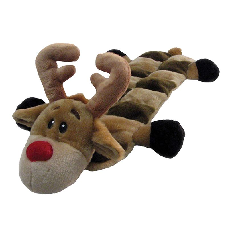 Long Body Squeaker Mat Dog Toy Santa