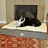 KH Mfg Feather Top Gray/Black Ortho Dog Bed