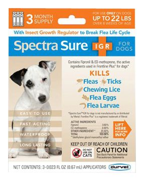 SpectraSure IGR for Dogs 3 Month Up to 22lbs
