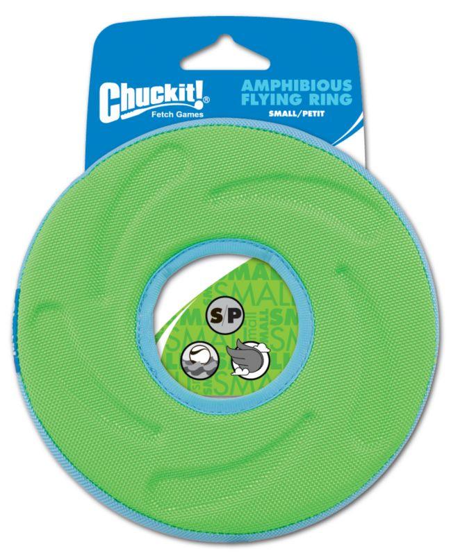ChuckIt Amphibious Flying Ring Dog Toy Small