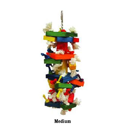 Happy Beaks Block Cluster Bird Toy Large
