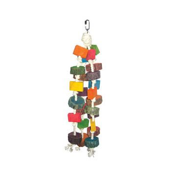 Happy Beaks Colored Wood Circles Bird Toy