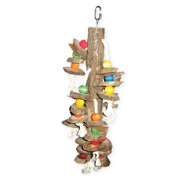 Happy Beaks Hanging Wood Cylinders Bird Toy