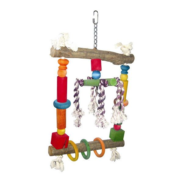 Happy Beaks Natural Wood Bird Swing