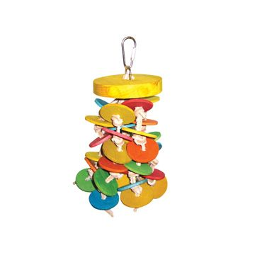 Happy Beaks Wood Wafers Bird Toy
