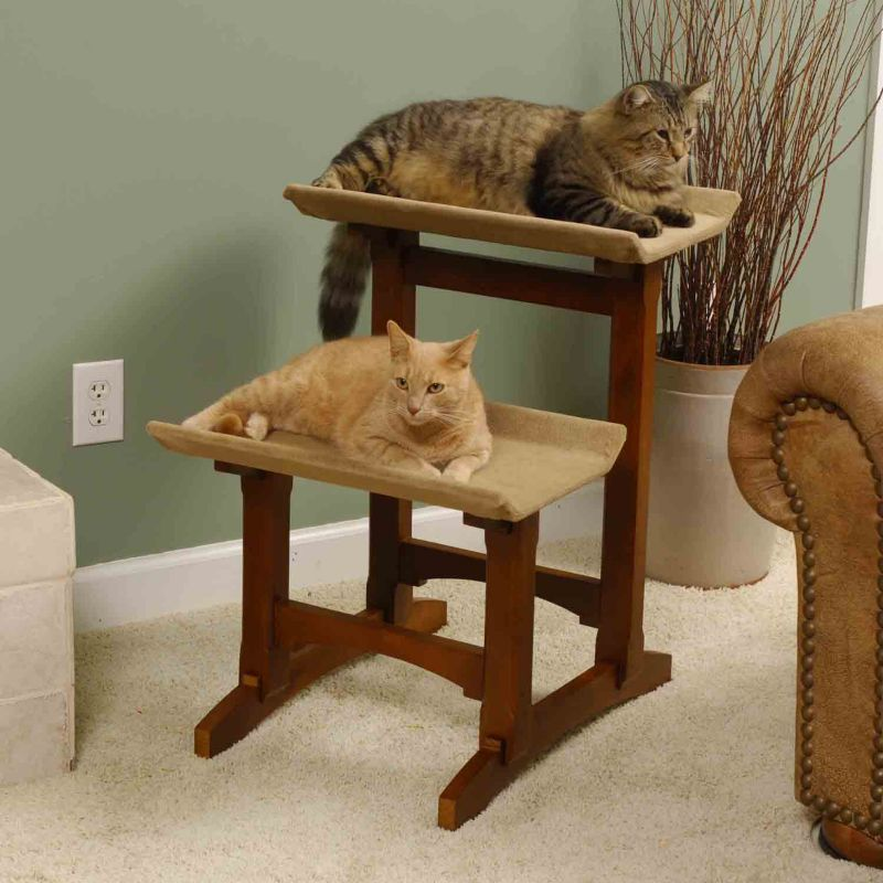 Double Seat Cat Furniture  Ebony