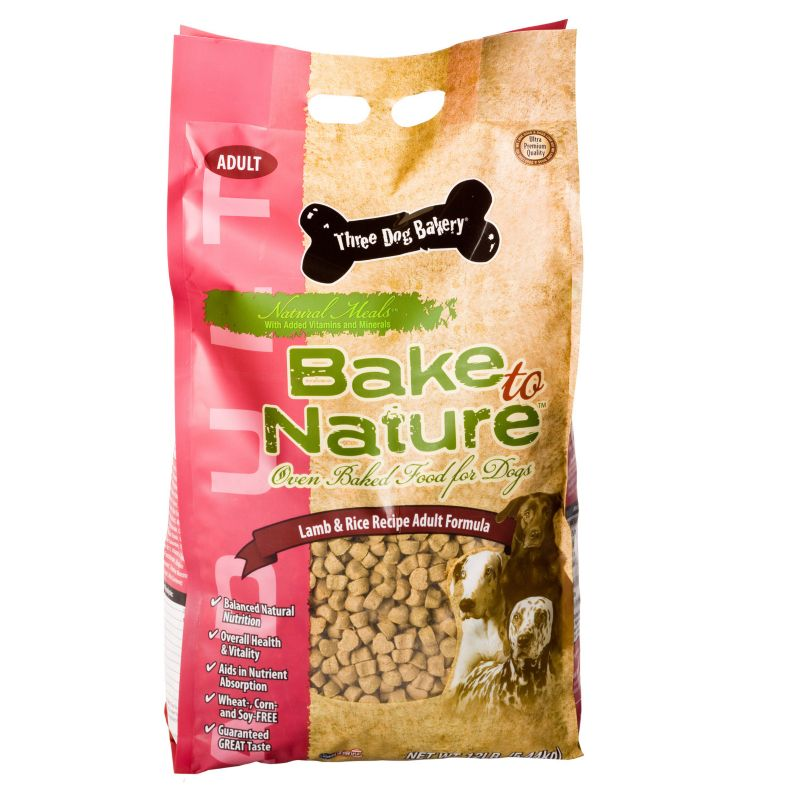 3 Dog Bakery Lamb Dry Dog Food 12lb Best Price