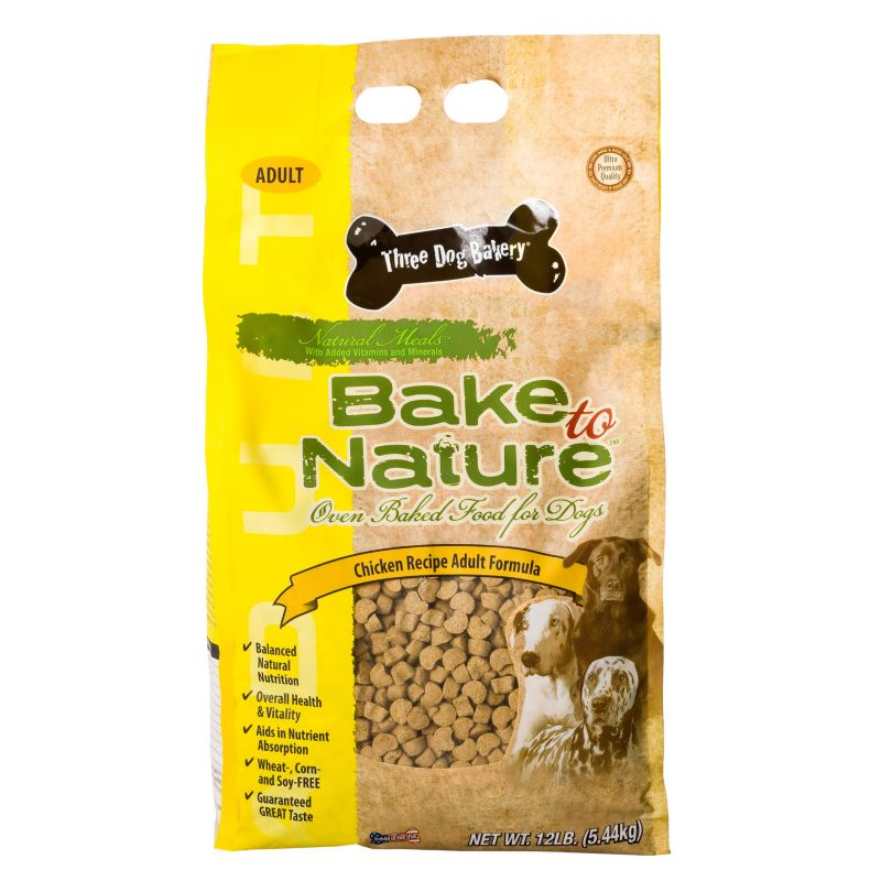 3 Dog Bakery Chicken Dry Dog Food 12lb Best Price