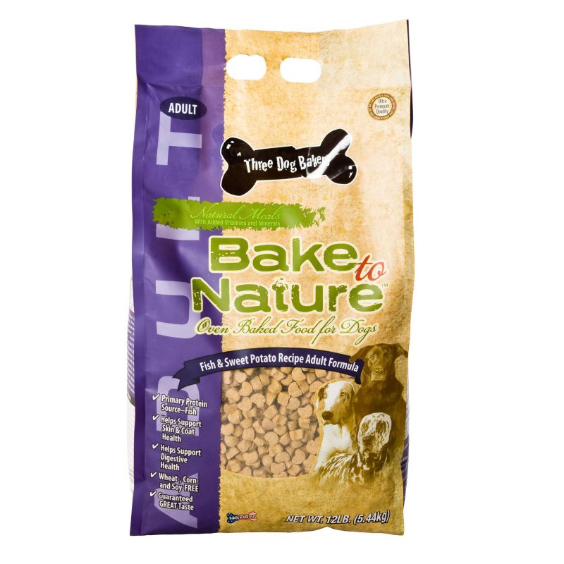 3 Dog Bakery Fish/Sweet Potato Dry Dog Food 12lb Best Price