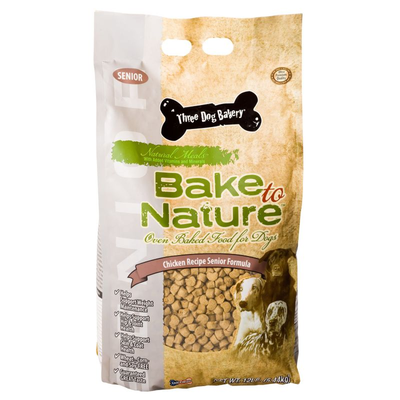3 Dog Bakery Senior Dry Dog Food 12lb Best Price