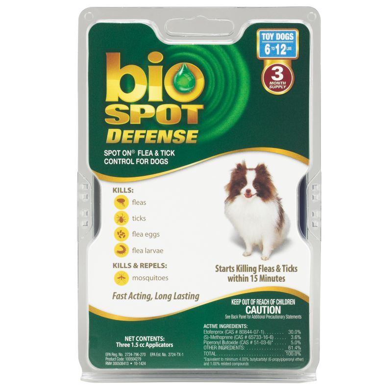 BioSpot Defense for Dogs 3 Month 6-12lbs